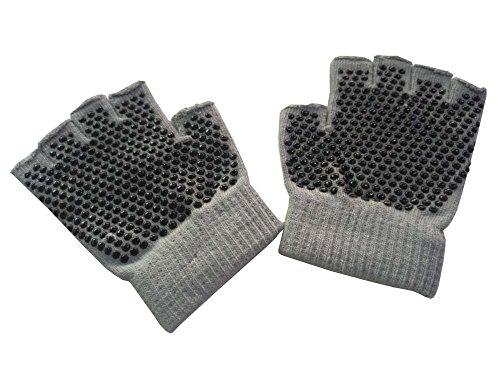 女性のヨガの手袋実用的なノンスリップの漫画の手袋、グレー