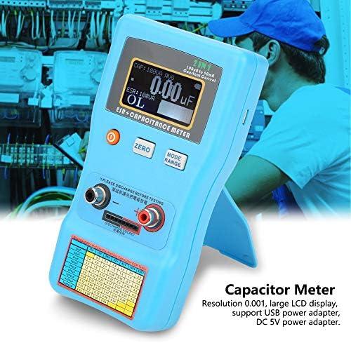 ESR Meter, Wacent High Quality and Useful Sturdy High Precision Digital Display Automatic Range Electrolytic Capacitance ESR Meter