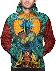 Maostodon Youth Graphics Retro Sweatshirt Hoodie Cartoon Pullover Hooded Tops
