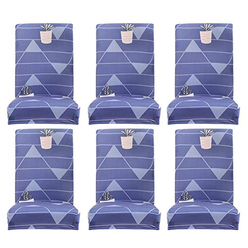 - Stretch Dinning Chair Cover Set of 6 Pack,Washable Removable Furniture Protector Covers Chair Slipcovers Sets with Pattern Printed for Hotel,Dining Room,Ceremony,Banquet Wedding Party