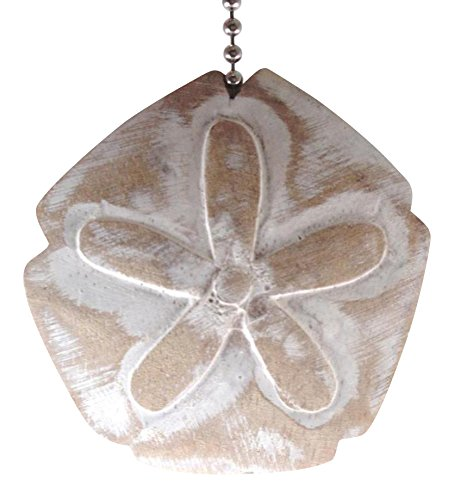 Coastal-Beach-Sand-Dollar-Whitewashed-Carved-Wood-Ceiling-Fan-Pull