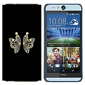 TECHCASE---Cubierta de la caja de protección para la piel dura ** HTC Desire Eye ( M910x ) ** --Mariposa Conceal