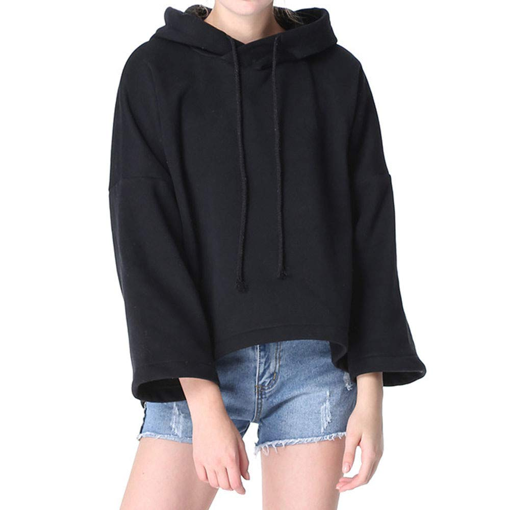 Dainzuy Ladies Sexy Casual Tops,Women Long Sleevel Hooded Coat Blouse T-Shirt