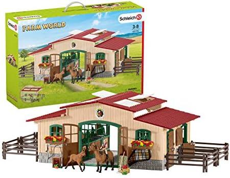 Schleich Farm World 42195 »Pferdestall mit Pferden«, viele