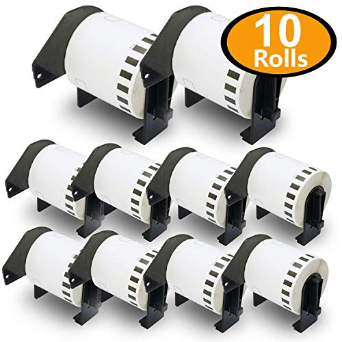 (BETCKEY - 10 Rolls Compatible Brother DK-2212 2-3/7