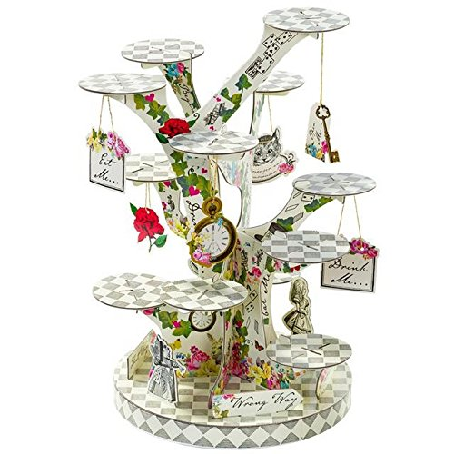 (Talking Tables) 本当にアリスのツリー形のケーキスタンド (x6) - Talking Tables Truly Alice Tree Shaped Cake Stand (Pack of 6) [並行輸入品]   B074PSP4X5