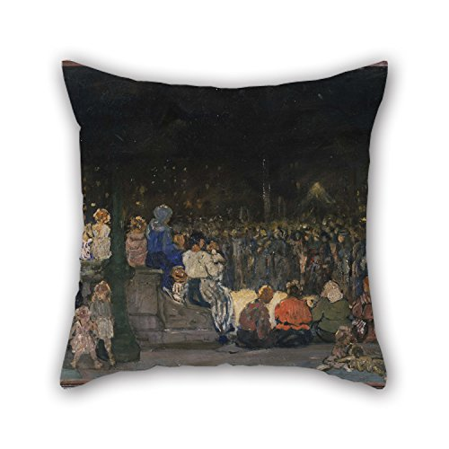 Slimmingpiggy 16 X 16 Inches / 40 By 40 Cm Oil Painting Jerome Myers - Band Concert Night Pillow Shams,two Sides Is Fit For Dining Room,boy Friend,study Room,bar Seat,lover (Cowboys Jersey Sham)