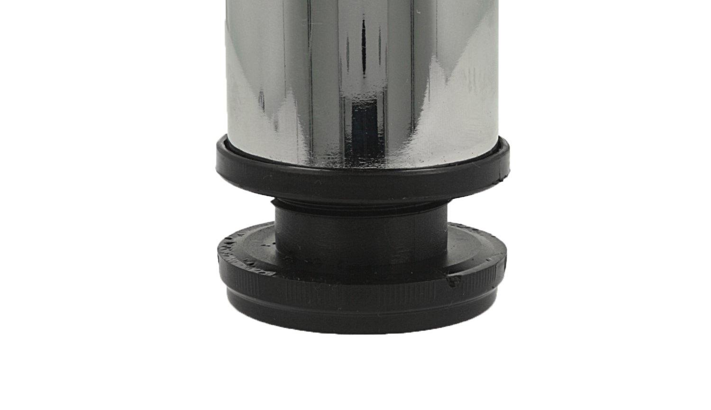 Chrom gl/änzend MS Beschl/äge/® abklappbares Tischbein M/öbelfuss Tischfuss /ø 50mm aus Metall H/öhe 870mm