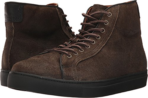 Frye Mens Walker Midlace Tennisschoen Fatique Gewaxt Suède