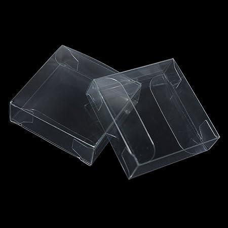 Caja de plástico transparente de PVC para juguetes, manualidades, embalaje, decoración, bricolaje, para fiestas, bodas, suministros
