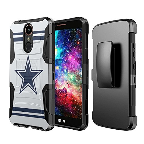 Phone Case Cowboys Cell - Capsule Case Compatible with LG Stylo 4 Plus, LG Stylo 4, LG Q Stylus [Dual Layer Full Armor Style Kickstand Holster Combo Case Black] for LG Stylo 4 - (Cowboy)