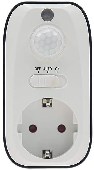 Entre Conector con regulador/Detector de Movimiento/Sensor Crepuscular con protección Infantil, 230.00V: Amazon.es: Bricolaje y herramientas