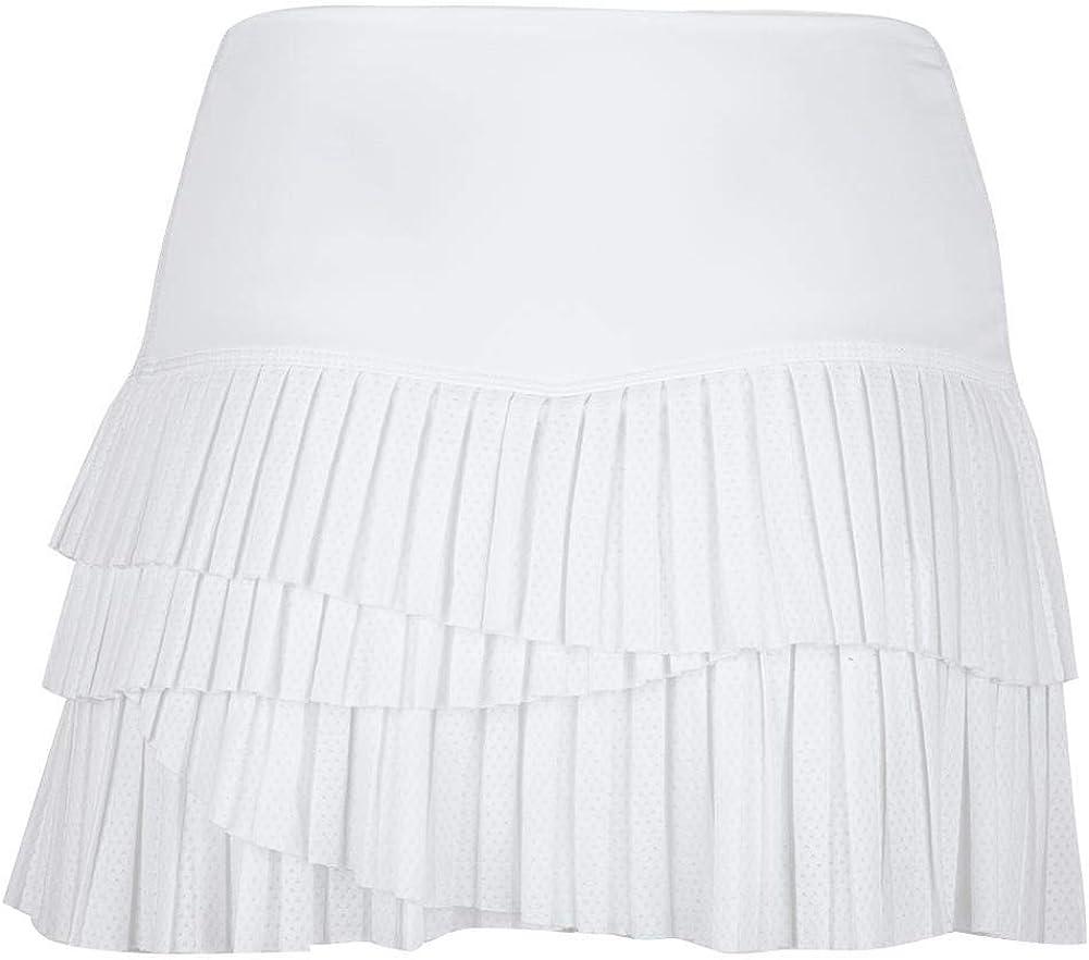 Black Lucky In Love BMS Hi Pleat Scallop Skirt