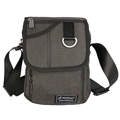 Vanlison Crossbody Small Shoulder Bag Messenger Sling Pack Satchel for iPad Mini Paperwhite Black