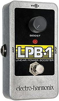 electro-harmonix LPB-1 - Pedal de distorsión para guitarra, color plateado