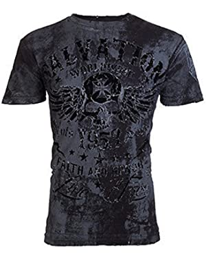 Archaic by Shirt Black Tide Skull Tattoo Motorcycle Biker UFC