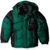 U.S. Polo Assn. Big Boys' Bubble Jacket (More Styles Available), Green/Green Logo a, 14/16