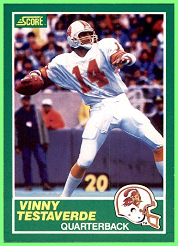 014babad4 1989 Score #224 Vinny Testaverde TAMPA BAY BUCCANEERS MIAMI HURRICANES at  Amazon's Sports Collectibles Store