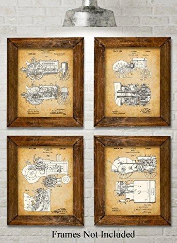 original-john-deere-tractors-patent-art-prints-set-of-four-photos-8x10-unframed