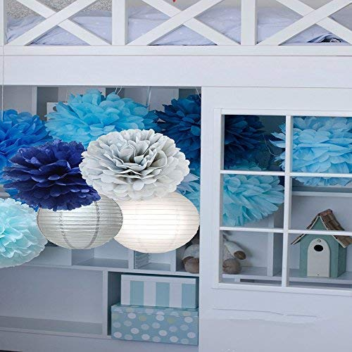 Jual Tissue Paper Flowers Pom Poms Decorations Bright Colorful