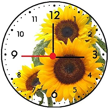 Amazon Com Rusch Inc Sunflower Wall Clock Home Amp Kitchen