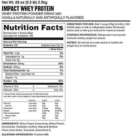 MyProtein Impact Whey Protein (2500G) 2500 g