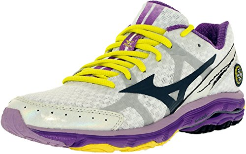 Mizuno Women's Wave Rider 17 2A Running Shoe,White,9.5 2A US