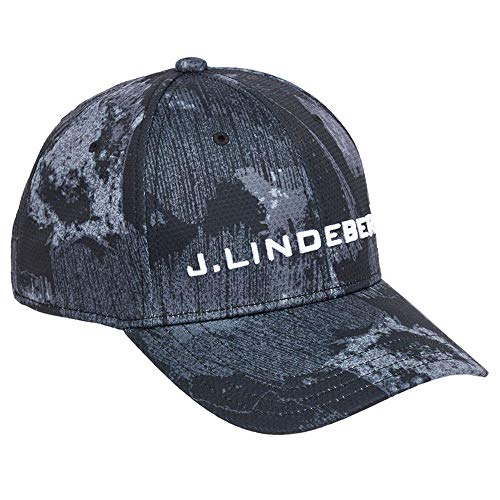 J.Lindeberg Aiden Pro Poly 86MG Golf Cap 2018 Black Sports Camo One Size Fits All