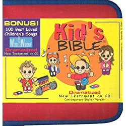 Kid's N.T. Audio Bible Zipper Case, Bible Stories for Children with 100+ Children's Gospel Songs - Dramatized Audio Bible New Testament CEV Version ... for fun or home school urriculum. 9th Edition