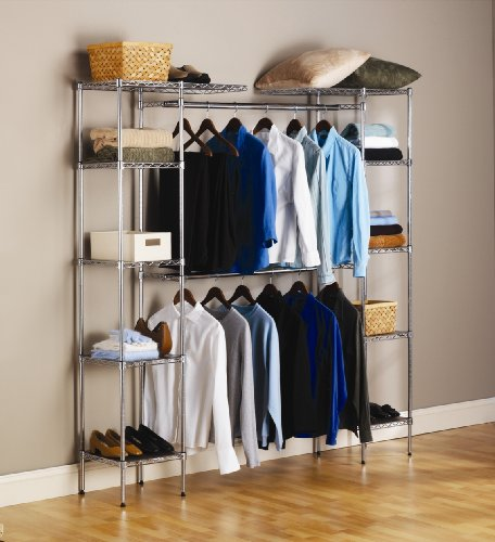 Amazon com seville classics expandable closet organizer system home kitchen