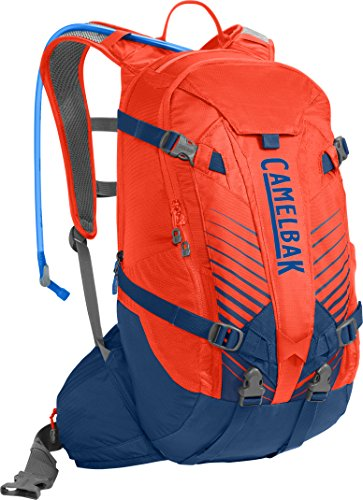 CamelBak K.U.D.U. 18 Crux Reservoir Hydration Pack, Cherry Tomato/Pitch Blue, 3 L/100 oz