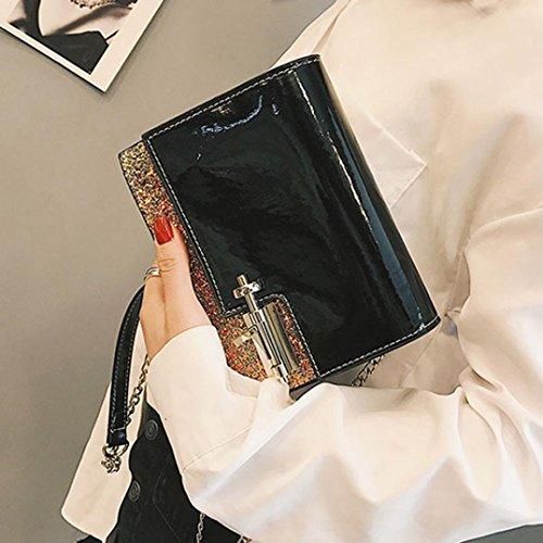 Main Sac La En A Sac éPaule main Mode FéMinine zycShang A a Femmes Sac Noir Langer Crossbody Cuir en Sac Sac cuir Flap Tw575q