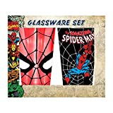 Spiderman Face and Swing Pint Glass 2-Pack