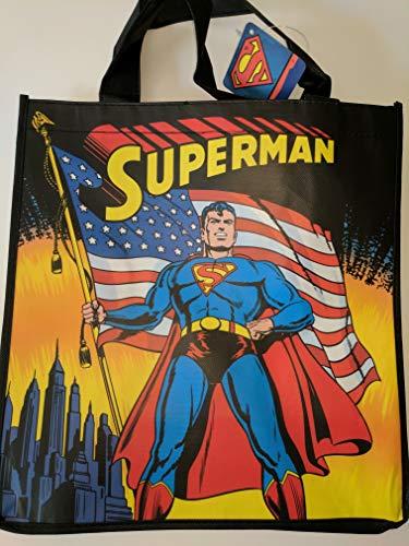 DC Comics' Superman Holding American Flag Tote Bag