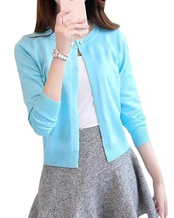 promo code 70838 49389 ShiFan Cardigan A Maglia Donna Corto Leggero Coprispalle Giacca Top Maniche  Lunghe Eleganti