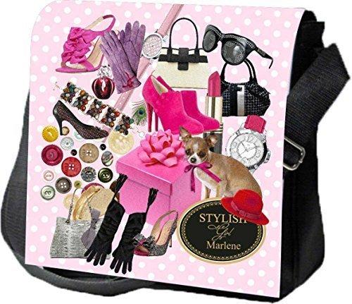 Schultertasche Umhängetasche Handtasche personalisiertes Geschenk Frauen Tussi Party Ausgehtasche Partytasche