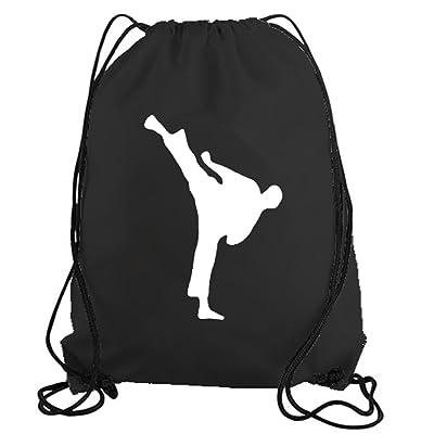 STICKERSLUG Karate Kick Drawstring Gym Bag nylon workout bag #11197 60%OFF