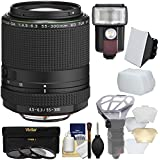 Pentax HD DA 55-300mm f/4.5-6.3 ED PLM WR RE Zoom Lens 3 UV/CPL/ND8 Filters + Flash & LED Video Light + Diffuser + Soft Box + Kit
