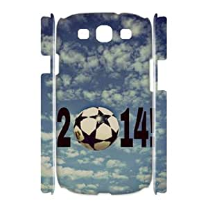 WJLCASE Design 9WJL7380 Custom Soccer Ball Durable Hard Back 3D Cover Case for Samsung Galaxy S3 I9300