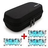 Dainayw Insulin Carrying Case, EVA Insulin Cooler Bag, Diabetic Travel Bag, Temperature Display, Waterproof, Medical with 3 Ice Packs (Black)