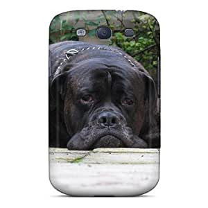 Black Bullmastiff For Iphone 4/4S Case Cover Protective