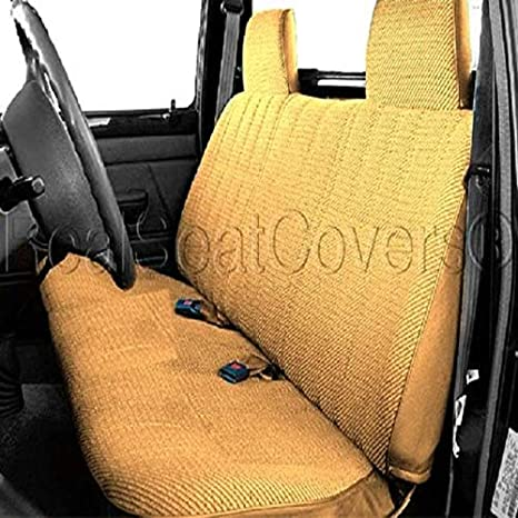 Excellent Realseatcovers For Front Bench A23 Triple Stitched Molded Headrest Belt Cutout Custom Made For Toyota Small Truck Beige Tan Squirreltailoven Fun Painted Chair Ideas Images Squirreltailovenorg