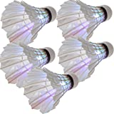 SODIAL(R) 5*Dark Night LED Badminton Shuttlecock Birdies Lighting Multicolours