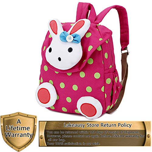 Small Toddler Kids Backpack School Bags Rabbit for Girls (Pink) Under 3 Years