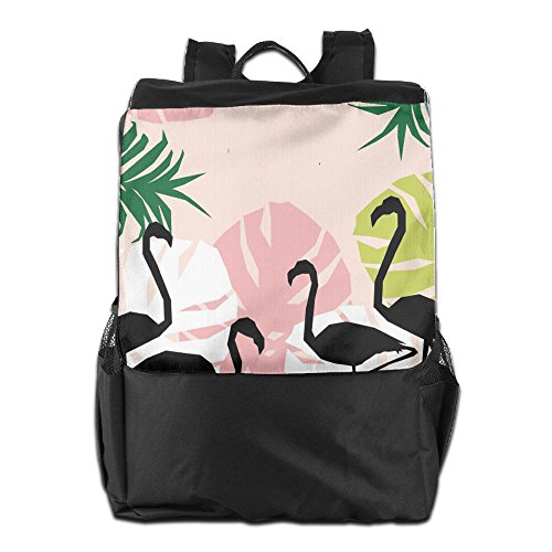 For Backpack Outdoors Pink Personalized Flamingos Adjustable Shoulder Dayback School Women Strap Camping Storage Travel HSVCUY Men And dOwYE5qO