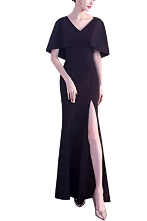 KAXIDY Womens Maxi Dresses Casual Long Dresses Bridesmaid Prom Dresses Long Evening Party Gowns (Black