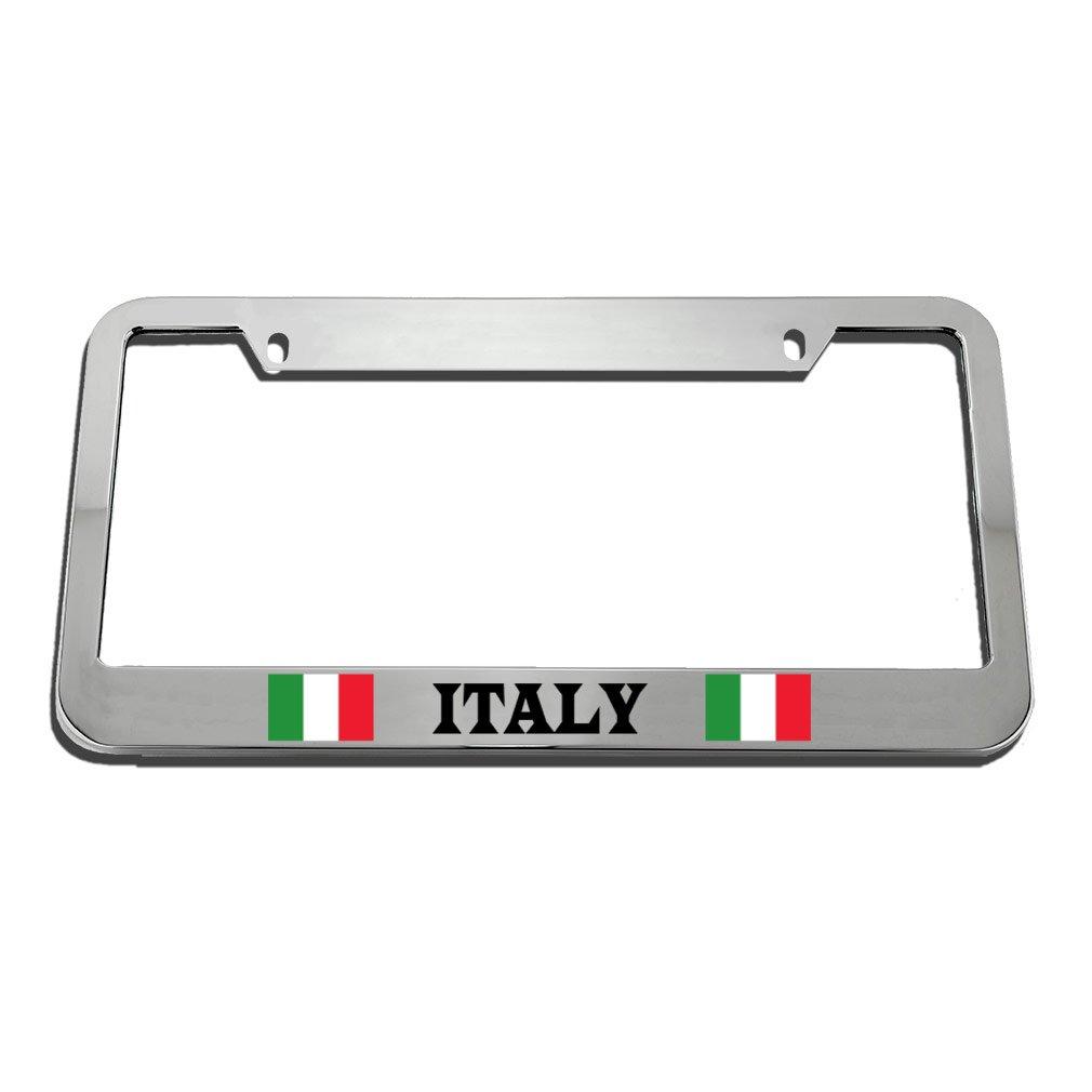 Speedy Pros Italy Italian Italiano Country License Plate Frame Tag Holder