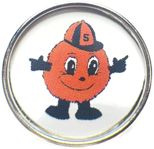 Syracuse Orange Orangemen College Logo Fashion Snap Jewelry University Snap (Syracuse Orangemen Bracelets)