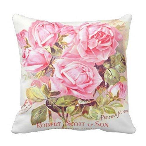 KarilShop Robert Scott Seed Pack Floral Linen Throw Pillow Case Cushion Cover Home Sofa Decorative 18 X 18 (Linen Pillow Seed)