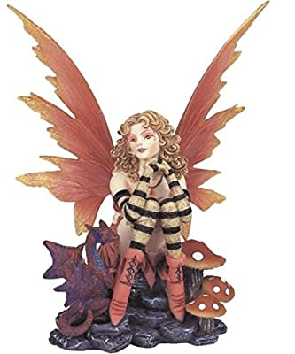 StealStreet SS-G-91149, Fairy Collection Peach Pixie Desk Decoration Figurine Collectible